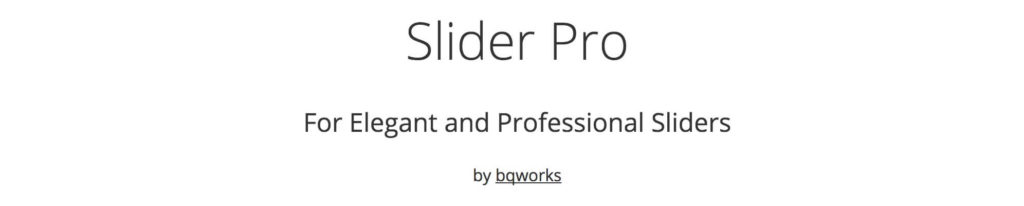 SliderProのサイトのスクリーンショット